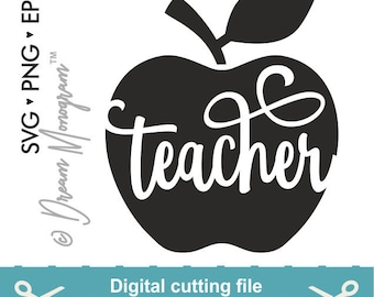 Teacher life Svg, Teacher Svg, Teach Svg, Thank you Svg, School Svg, Apple Svg, Cutting files for use with Silhouette Cameo and Cricut