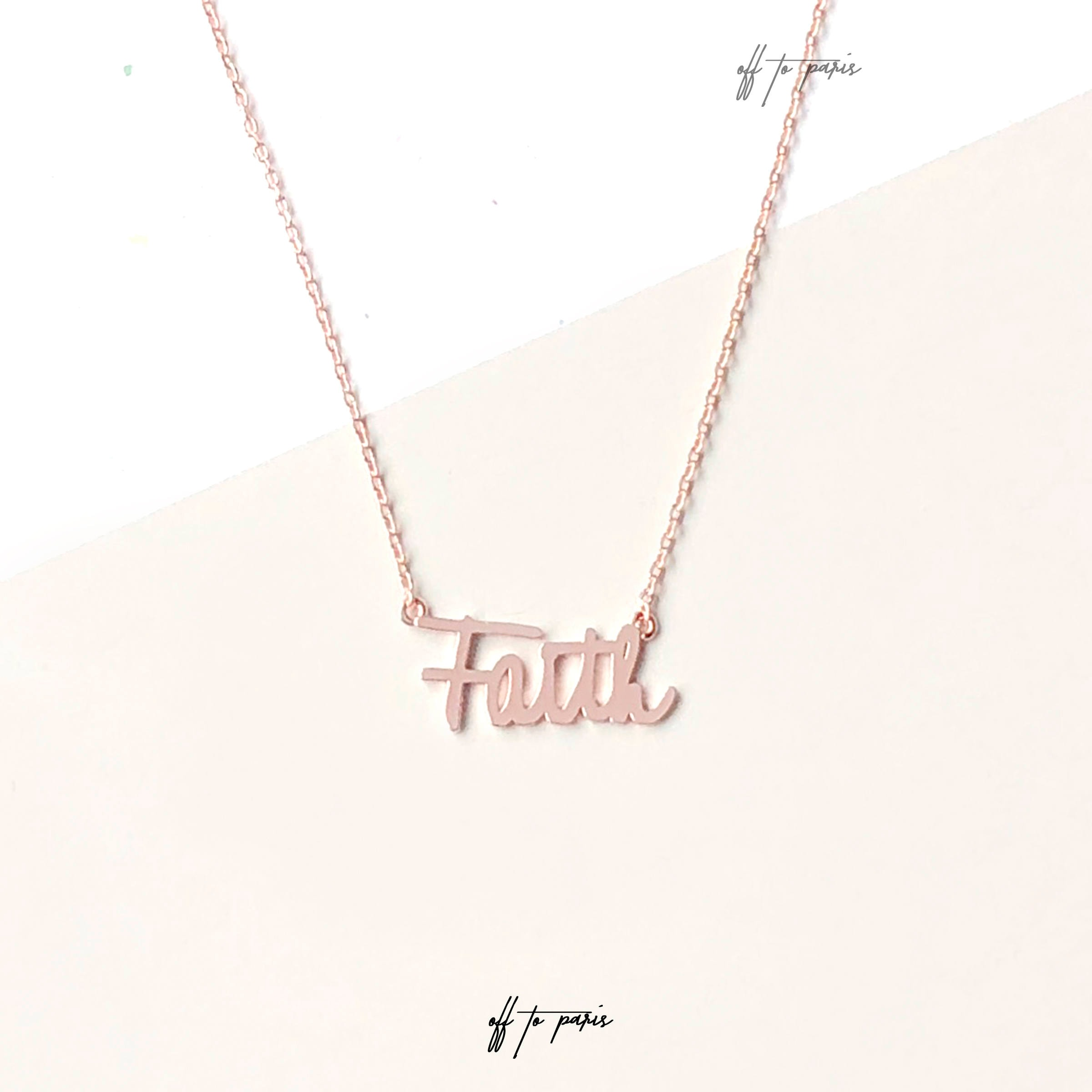 jewelry pendant shelf ts brass faith engraved scalloped top necklace
