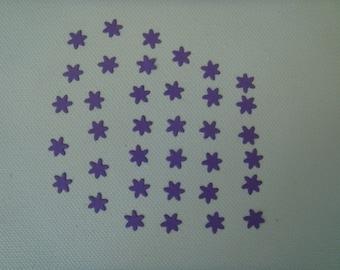 Cuts set of 36 mini purple design for creating paper flowers