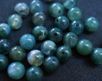 30 H2085 6 mm yellow AGATE beads