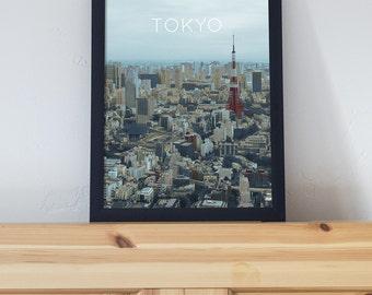 Tokyo Print Art Poster 11x17 18x24 24x36
