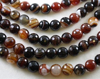 Brazilian Agate - Faceted Round 14 mm