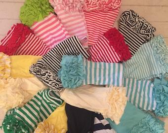 Shorties/girls shorts,Toddler girls ruffled Icing shorts, girls mint/navy ruffled Icing style shorts, ruffled bottom short,Reasy to ship