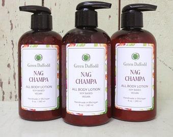 Nag Champa Soy Hand & Body Lotion - Green Daffodil - VEGAN -SL8