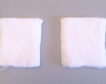White jersey rib cuffs