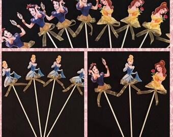 12 Princess & Prince Favor Sticks, princess Wands,  princess inspired party decorations, princess party supplies, prince