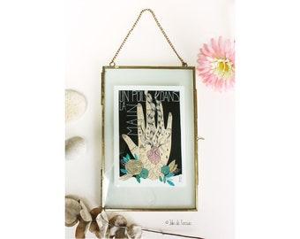 """Peinture en technique mixte """"Un poil dans la main"""", 20x30cm"""
