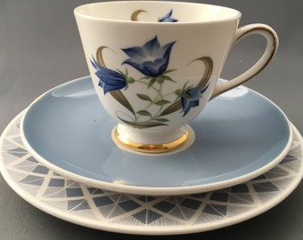 Tuscan Harebell Vintage Trio (Tea Cup and Saucer Side Plate)