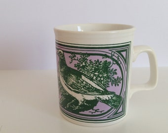 Mug Cup Staffordshire made in England vintage pigeon