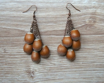 Hazelnut Dangle earrings is a Perfect Gift for Her - Unique Mother's day gift