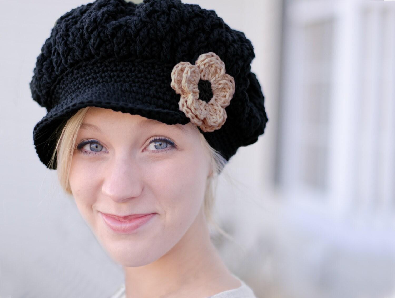 Mützen Sie für Frauen schwarzen Hut für Frauen Frauen