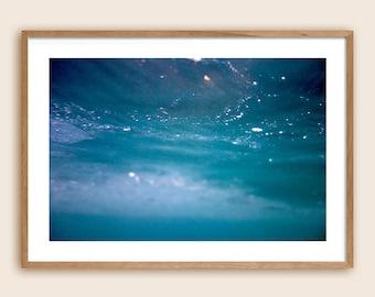 "Underwater Photography Print - Sea Photography - Ocean Photography - ""The Sea is The Sky is The Sea"""