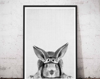 Rabbit Printable Art, Printable Nursery Bunny, Baby Rabbit Print Decor, Woodland Nursery Rabbit Print, Woodlands Art Set, Woodlands Decor