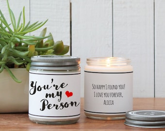 You're My Person Scented Soy Candle Gift - Scented Candle - Best Friends Gift | Best Friends Card | Boy Friend Gift | Girl Friend Gift