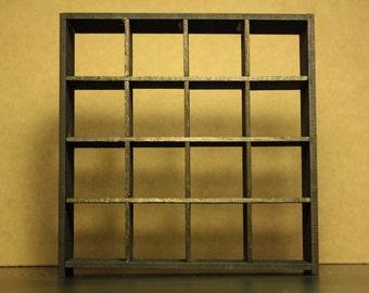 IKEA inspired miniature dollhouse black 1/12 EXPEDIT bookcase