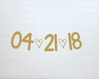 Save The Date Banner   Save the Date Sign   Wedding Banner   Wedding Date Banner   Wedding Date Sign   Engagement Sign   Save the Date
