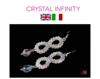 Earrings Pattern PDF Crystal Infinity
