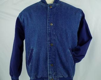 Vintage 90's Men's Lee Denim Jean Jacket Navy Blue Size L
