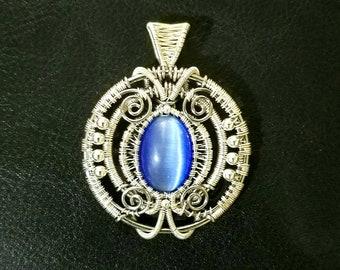 Blue CatsEye Pendant