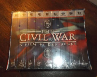 Sealed 9 VHS Tapes The Civil War A Film By Ken Burns PBS
