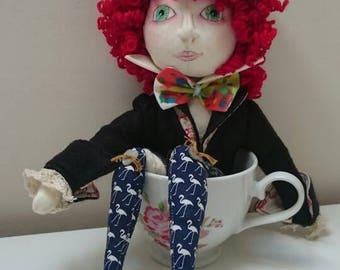 Mad Hatter, Mad Hatter dolls, Alice mad hatter, custom doll, character doll, handmade art doll, wonderland, cloth art doll, fabric art doll