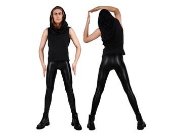 Meggings, Mens Leggings, Black Leggings, Glam Rock, Burning Man Men, Leather Leggings, Festival Clothes Men, Mens Festival Pants, LENA QUIST