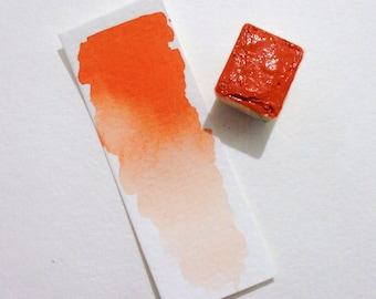 Benzimida Orange - Handmade Watercolor Paint - Art Supply - Artist Gift - Art Paint - Handcrafted Professional Watercolour