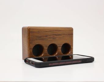 iPhone Speaker dock / Acoustic Cell Phone Speaker / Portable Acoustic Speaker by Recovered Design
