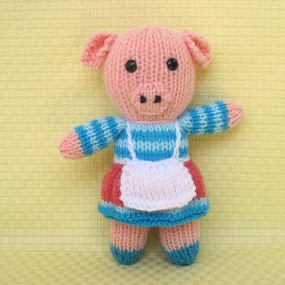Rabbit Cat Pig Panda 4 Toy Animal Doll Knitting Patterns Pdf
