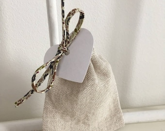 Pouch sweets natural linen and liberty ⭐️