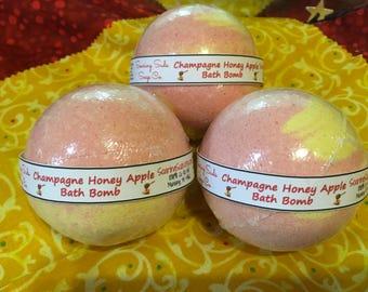 Champagne Honey Apple Bath Bomb, Bath Fizzy