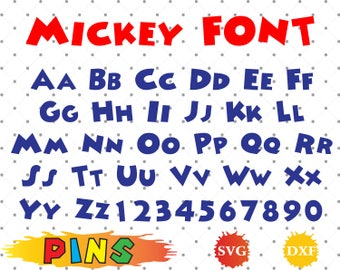 MICKEY font svg,dxf/MICKEY alphabet /MICKEY letters  for Design,Print,Silhouette, Cricut