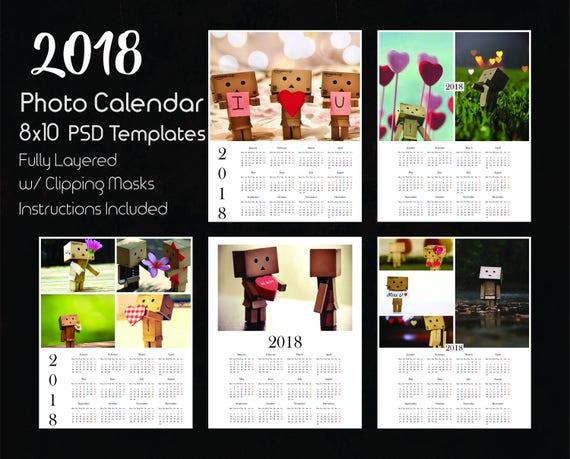 8x10 Photo Calendar Template 2018 5 Psd Templates Photoshop