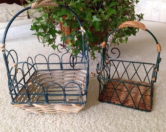 CLEARANCE Vintage Wire Baskets LOT of 2