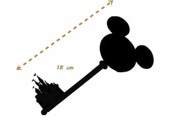 Princess Castle key stickers / Princess mickey disney key vinyl, stickers, wall decoration, or smooth surface