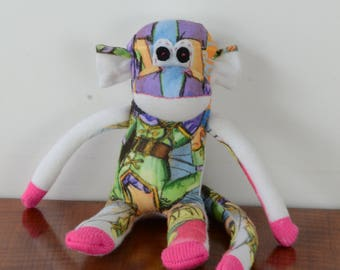 disney Tinkerbell sock monkey, sock monkey doll, his animal toy, *READY TO SHIP*