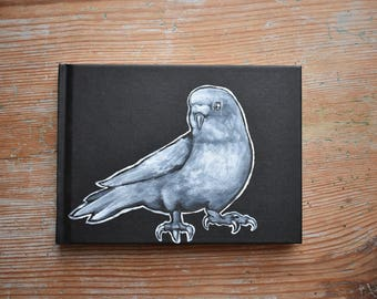 Budgie Hand Painted A6 Sketchbook