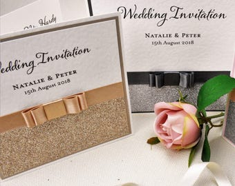 Simply Elegant - Hand Crafted Wedding Invitation