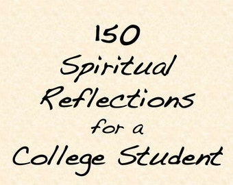 Printable Spiritual Journal for College Student, 150 Prompts, Journal for the Journey, Digital Ebook