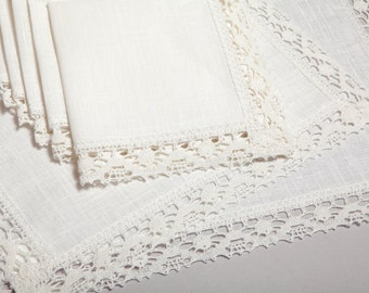 100 % Linen Napkin Set of 7 pcs.