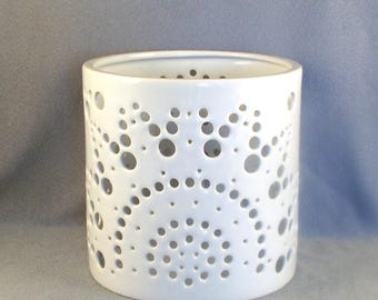 Ceramic Candle Holder // Multi Holes // Forming Patterns // Upright & Reverse // Luminescence