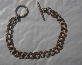Antique Copper Double Chain Bracelet