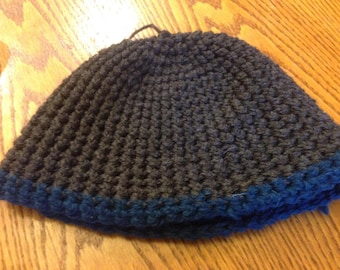 Charcoal and Blue Hat