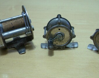 Lot of 3 vintage fishing reels Great Lakes and Made in USA