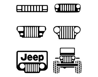car jeep grills silhouette SVG, vector, PNG, Cut Files, Svg Files, Cricut Files, Silhouette Files