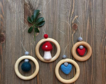 Wood And Wool Diffuser Ornament...{more choices}