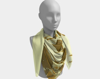 Golden Rayed Western Scarf