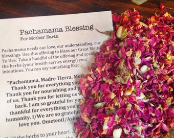 Pachamama Blessing - Mother Earth Blessing - Mother Earth Ritual - Mother Nature Blessing - Nature Blessing - Free Shipping