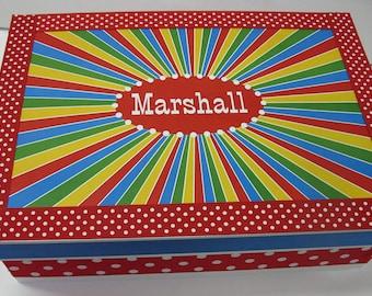 Circus Themed Personalized Keepsake Box