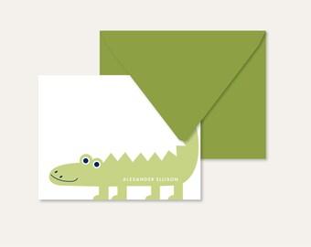 Children's Personalized Note Set - alligator